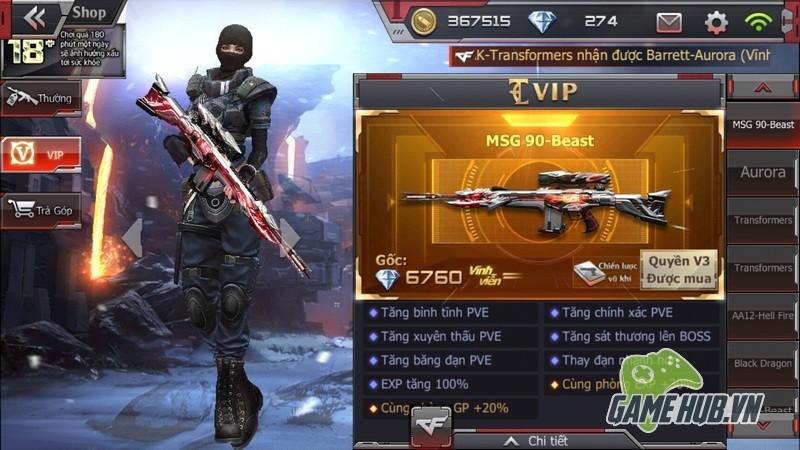 Crossfire Legends - Điểm danh những khẩu Sniper VIP khiến nước miếng