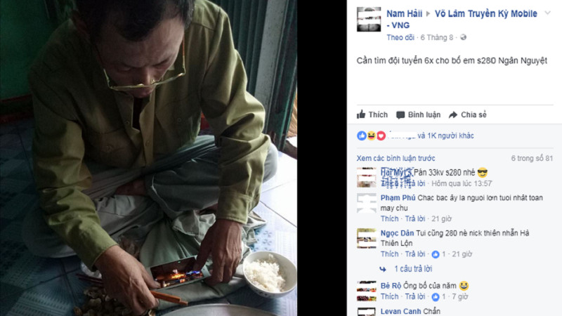 VLTK Mobile - Ông bố CHẤT nhất năm, vừa ăn cơm say sưa cày game