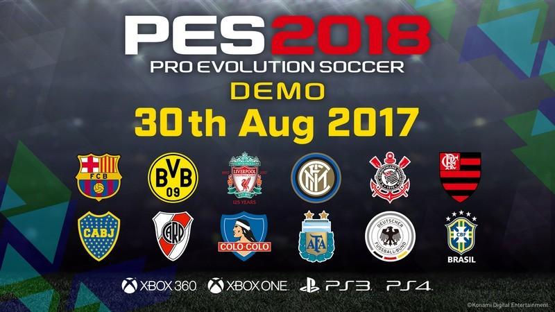 5 ngày nữa, game thủ sẽ  có thể sờ tận tay day tận trán PES 2018 Demo