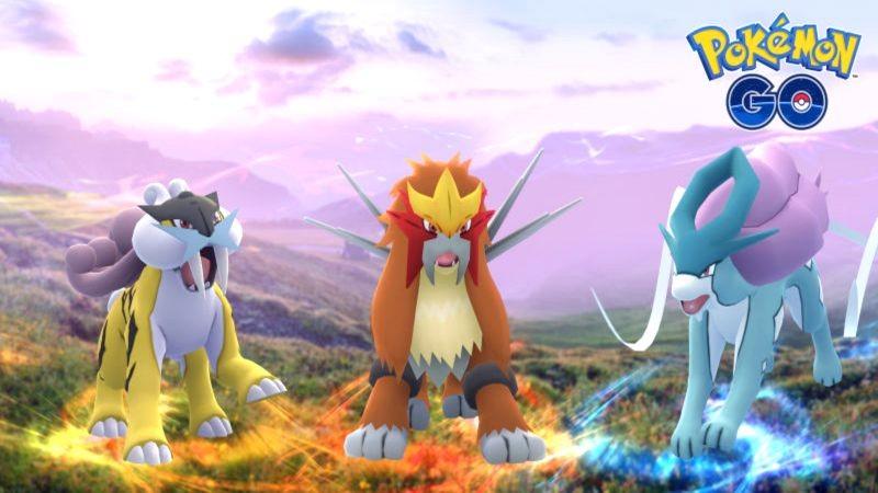 Pokemon GO chính thức có bộ 3 huyền thoại Raikou, Entei và Suicune