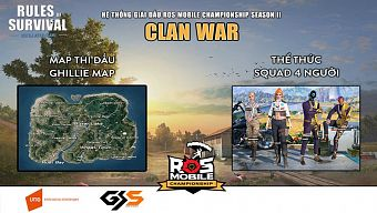 android, clan war, ios, ros, ros m, ros mobile, rules of survival, rules of survival mobile, tải rules of survival