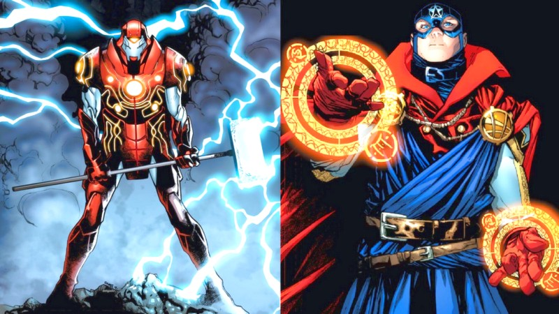 Marvel lộ series mới - Iron Man hợp thể với Thor, Doctor Strange hòa máu với Cap