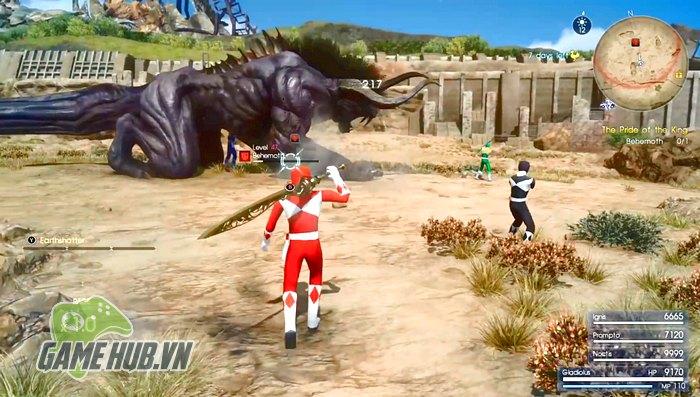 Chính xác, toàn bộ dàn nhân vật chính của Final Fantasy 15 sẽ được khoác  lên mình những bộ cánh huyền thoại của Siêu Nhân Đỏ, Xanh, Đen.