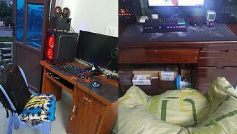 dàn máy pc, ghế gaming, góc chơi game, góc game thủ, góc gaming, tự chế ghế gaming