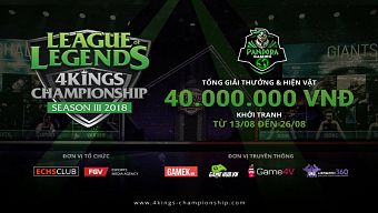 liên minh huyền thoại, lmhb, pandora 4kings, pandora 4kings championship, pandora gaming center