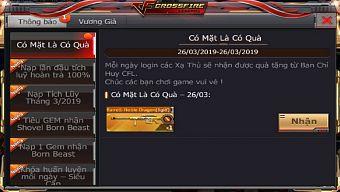 VNG tiếp tục tặng xạ thủ CrossFire Legends quà VIP những ngày cuối tháng 3