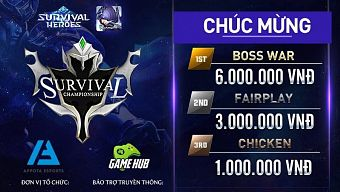 Lộ diện chân dung nhà vô địch đầu tiên của giải đấu Survival Championship 1
