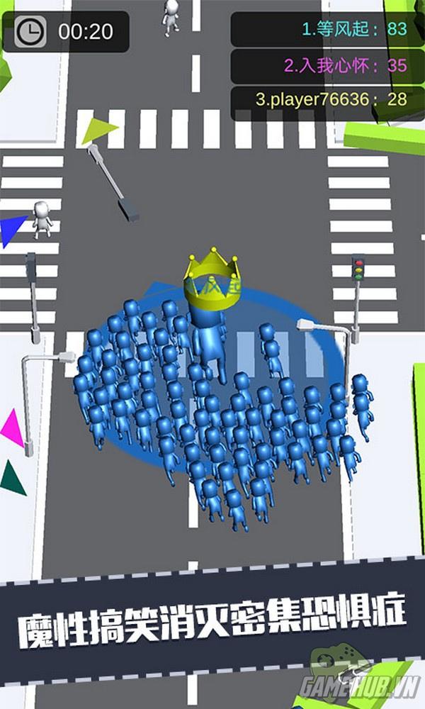 Crowd City game chạy đua đơn giản mà hút người chơi không tưởng