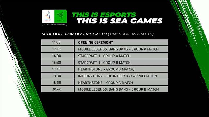 Trực tiếp Esports SEA Games 30 ngày 5/12: Starcraft II, MLBB và Heathstone ra quân