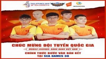 SEA Games 30: Đội tuyển Mobile Legends: Bang Bang Việt Nam vào Bán kết nội dung Esports