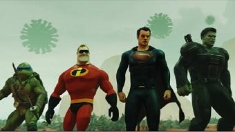 manga, siêu anh hùng, batman, superman, iron man, siêu anh hùng marvel, saitama, siêu anh hùng dc, goku, virus corona, covid-19