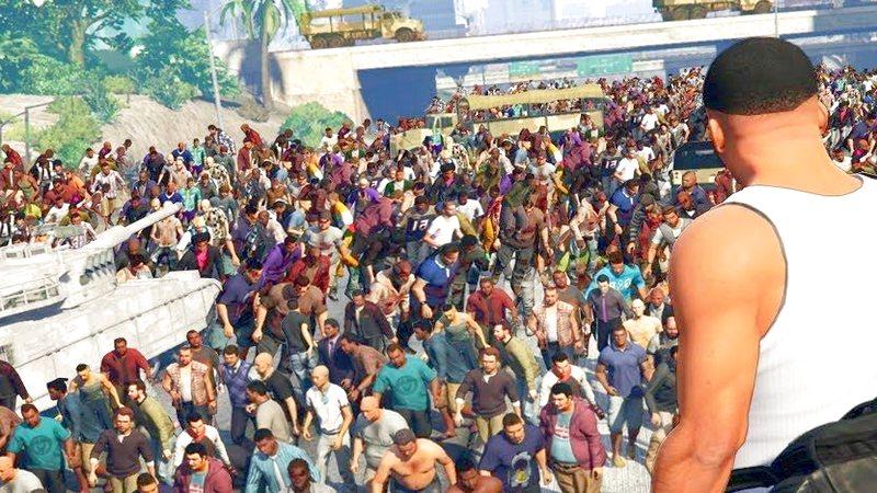 GTA 5 - Mod Zombie biến cả thành phố...