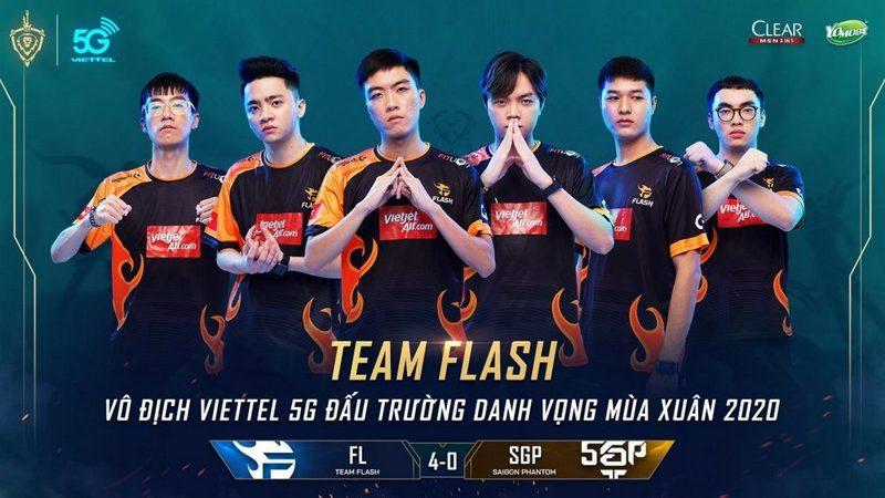 liên quân mobile, team flash, adc, đtdv mùa xuân 2020, vô địch đtdv, đtdv, sgp, lai bâng, team flash và sgp, bóng ma sài thành, chung kết đtdv, team flash vô địch đtdv, đương kim vô địch team flash