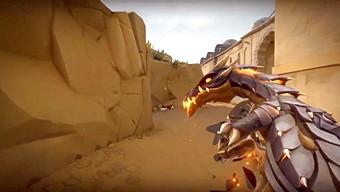 Skin súng của Valorant cho game thủ cầm nguyên con rồng trên tay