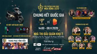 Chính thức mở bán vé trận Chung kết Đấu Trường Danh Vọng Mùa Đông 2020 từ ngày 31/10