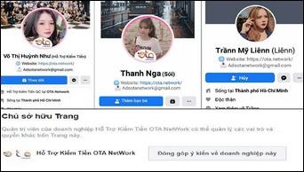 adsota, facebook gaming, facebook gaming creator, ota network, appota group, ota plus, mạo danh ota network, giả danh ota network, lừa đảo trên facebook, lừa đảo fanpage, lừa đảo chiếm fanpage