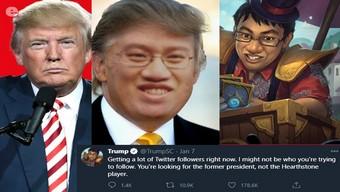 Twitter của tuyển thủ Hearthstone bị nhầm là acc mới của cựu Tổng thống Donald Trump