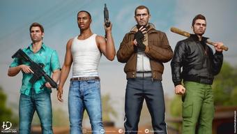Nhân vật GTA bất ngờ lột xác với đồ họa Nextgen