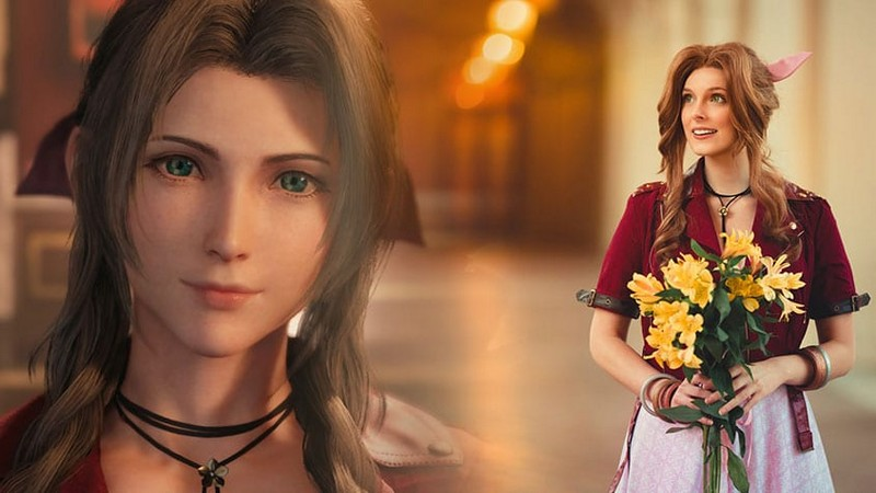final fantasy vii remake, cosplay aerith, briana white