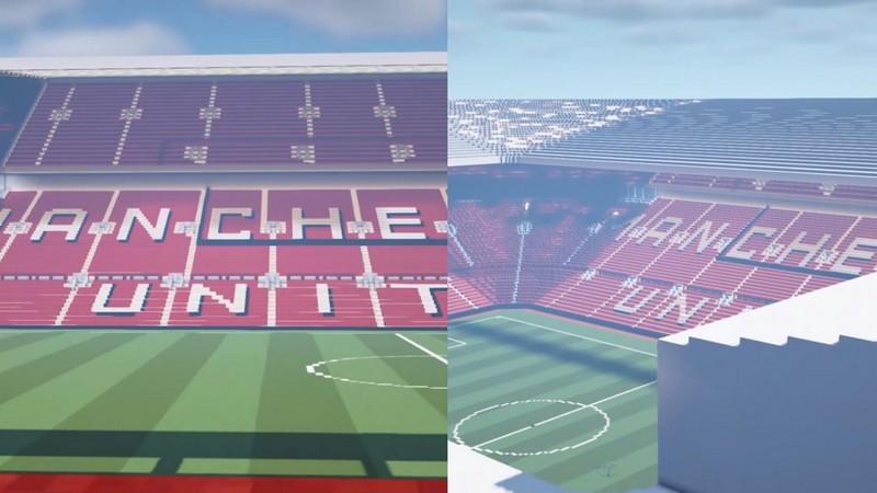 minecraft, manchester united, kynhongzippro, sân vận động, svđ, sân vận động old trafford